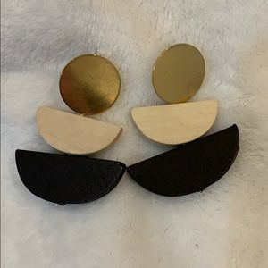 Urban Outfitters Wooden Statement Earrings